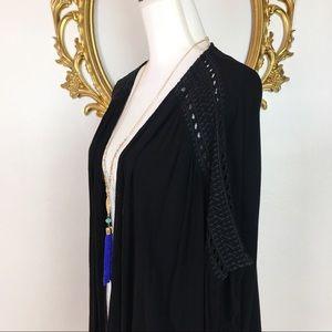 Casual Studio Tops - Casual Studio Black Short Kimono Size S